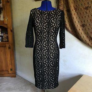 Anne Klein NWOT Black Lace Dress
